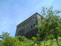 Torre do castelo, Gjirokaster, Albânia Imagens de Stock