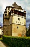 Torre do castelo no castelo do ¡ de Blatnà fotografia de stock royalty free
