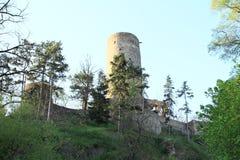 Torre do castelo Zebrak Fotografia de Stock Royalty Free