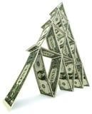 Torre do dólar de notas de um dólar Imagens de Stock Royalty Free