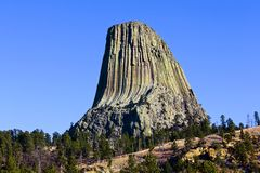 A torre do diabo, Wyoming Foto de Stock
