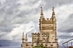 Torre do ` do gnezdo de Lastochkino do ` do castelo Fotografia de Stock