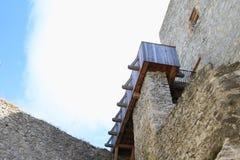 Torre do Donjon com balcão Fotografia de Stock