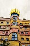 Torre do edifício da espiral da floresta imagens de stock royalty free