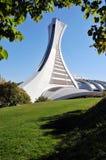 A torre do estádio olímpico de Montreal Fotografia de Stock