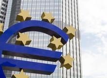 Torre do Euro em Francoforte Fotos de Stock Royalty Free