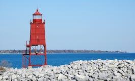 Torre do farol de Racine Fotografia de Stock