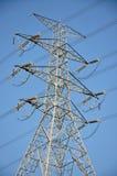 Torre do ferro da transferência da energia eléctrica Fotos de Stock Royalty Free