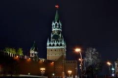 Torre do Kremlin de Rússia Moscou, o quadrado principal, vermelho Fotos de Stock Royalty Free