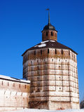 Torre do monastério de Kirillo-Belozersky imagem de stock royalty free