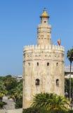 Torre do ouro (Torre del Oro) em Sevilha, Espanha Fotos de Stock