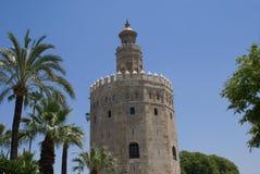 A torre do ouro Torre del Oro, Sevilha spain Fotografia de Stock