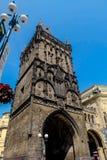 Torre do pó em Praga - República Checa Fotos de Stock Royalty Free