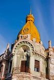 Torre do palácio de Oradea Fotos de Stock Royalty Free