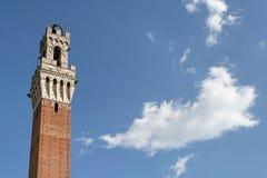 Torre do palácio público de Siena imagem de stock royalty free