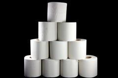 Torre do papel higiénico fotografia de stock