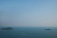 Torre do parque do oceano do parque do oceano que negligencia o mar do Sul da China no navio histórico Foto de Stock