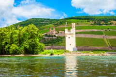 A torre do rato, Bingen é Rhein foto de stock royalty free