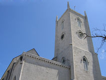 Torre do relógio da igreja católica de Nassau Bahamas Fotografia de Stock Royalty Free