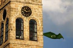 Torre do relógio em sarajevo imagens de stock
