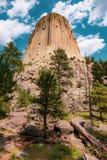 Torre do ` s do diabo em Wyoming foto de stock