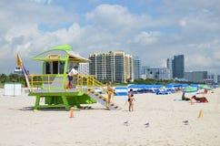 Torre do salvamento, Miami Beach Fotografia de Stock Royalty Free