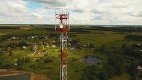 Torre do sinal de telefone vídeos de arquivo