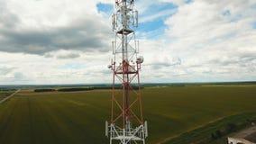Torre do sinal de telefone video estoque