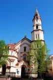 Torre do St. Nicholas Orthodox Church em Vilnius Imagem de Stock
