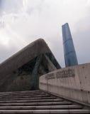 Torre do teatro da ópera IFC de GuangZhou Fotografia de Stock Royalty Free