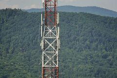Torre do telefone celular foto de stock royalty free