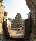 Torre do templo de Bayon fotografia de stock royalty free
