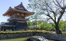 Torre do templo de Shitennoji Fotografia de Stock