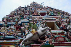 Torre do templo de Sri Mahamariamman Foto de Stock Royalty Free