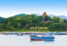 Torre do templo do homem poderoso, Nha Trang, Vietname Fotos de Stock Royalty Free
