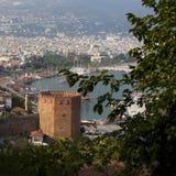 Torre do tijolo vermelho em Alanya Imagem de Stock Royalty Free