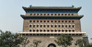 Torre do tiro ao arco de Zhengyangmen imagem de stock