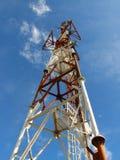 Torre do transmissor das telecomunicações Foto de Stock