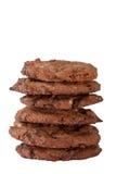 Torre doble de las galletas del chocolate Imagen de archivo libre de regalías