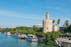 Torre dorata Siviglia Spagna Fotografia Stock Libera da Diritti