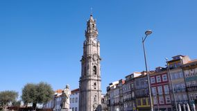 Torre Dos Clerigos / Clerigos Tower in Porto, Portugal stock images