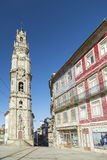 Torre DOS-clerigos porto Portugal Arkivbilder