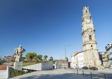Torre dos clerigos porto portugal Stock Photography