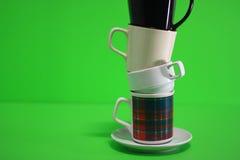 Torre dos copos de café Foto de Stock