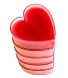 Torre dos corações vermelhos fotografia de stock