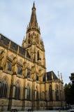 Torre dos DOM neogóticos de Neuer (catedral nova) em Linz, Upper Austria Foto de Stock