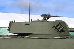Torre dos obus automotores do russo com armamentos foto de stock