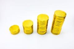 Torre dourada da moeda Imagem de Stock Royalty Free