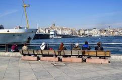 Torre e arquitetura da cidade de Istambul Galata fotos de stock