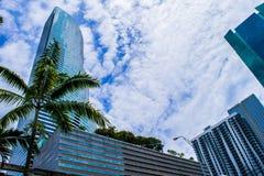 A torre e as nuvens Foto de Stock